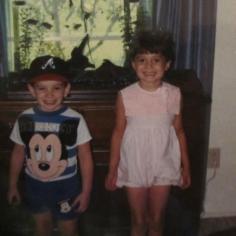 me and ben as kiddos